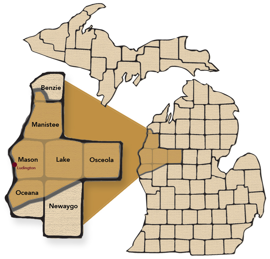 Ludington Beverage beer distribution map
