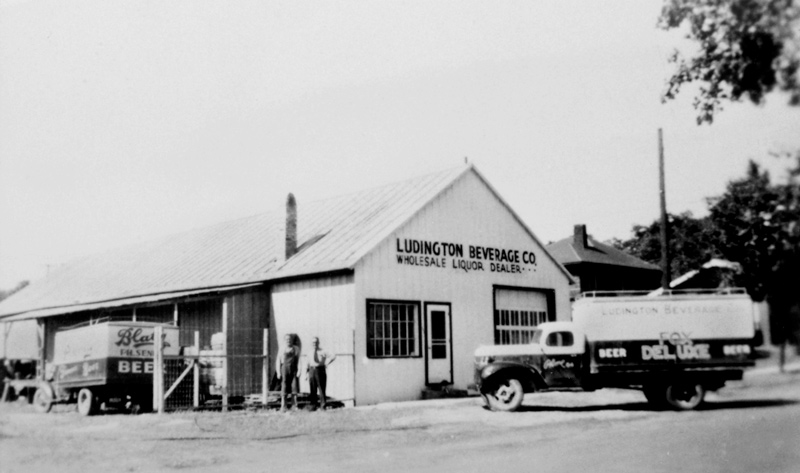 Ludington Beverage first warehouse